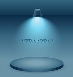studio background with podium vector image vector image