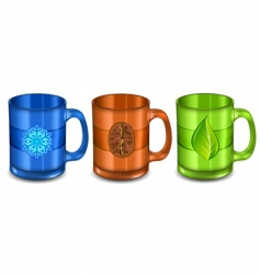 three cups vector image vector image