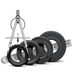 Tire scale vector