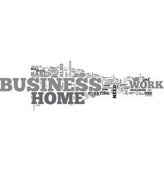 Work at home business text word cloud concept vector