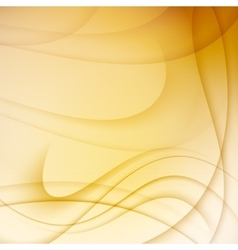 Yellow abstract background with curves lines vector image vector image