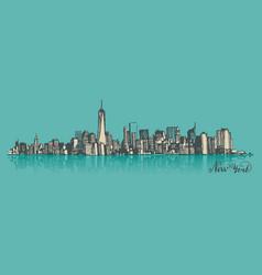 Sketch of manhattan new york vector