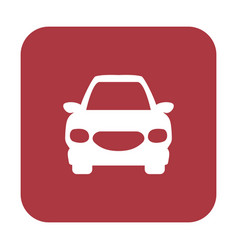 button with the icon of a car vector image