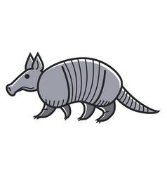 Gray armadillo animal vector