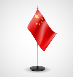 Table flag of china vector