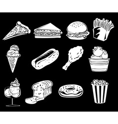 Different foods vector