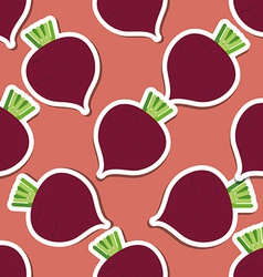beet pattern Seamless texture with beetroot vector image
