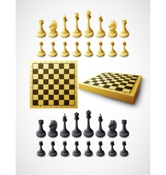 Chess and chessboard vector