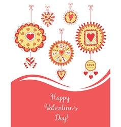 Beautiful greeting card for valentine s day vector