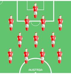 Computer game Austria Football club player vector image