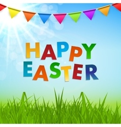 Spring natural happy easter background vector