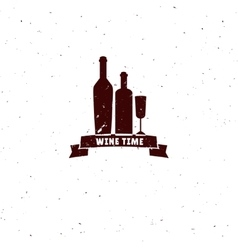 Wine logo isolated on white vector