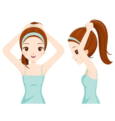 Girl hair tie vector
