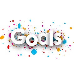 Goals paper sign vector