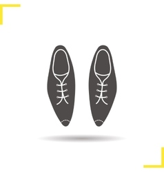 Mens shoes icon vector