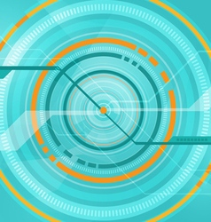 abstract tech circle technology background vector image