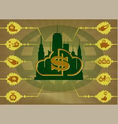 beige background financial technologies vector image