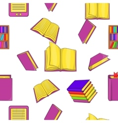 Book pattern cartoon style vector