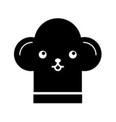 Cartoon fun hat for chef kawaii vector