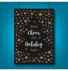 Christmas Holiday Cheer card Xmas poster vector image
