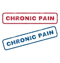 Chronic pain rubber stamps vector