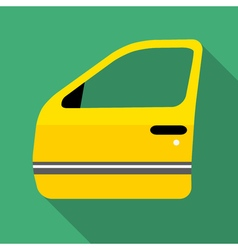 Colorful car door icon in modern flat style with vector