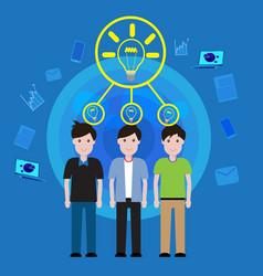 concept business teamwork brainstorming vector image vector image