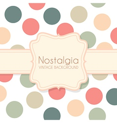 Cute Vintage Background with Frame vector image vector image