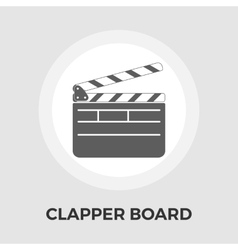 Director clapperboard flat icon vector image