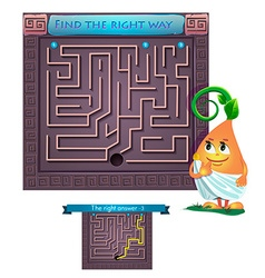 find the right way Greece vector image vector image