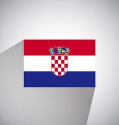 Flat flag of croatia vector