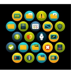 Flat icons set 10 vector
