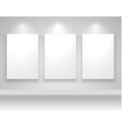frames on wall template design vector image