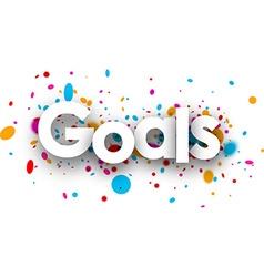 Goals paper sign vector