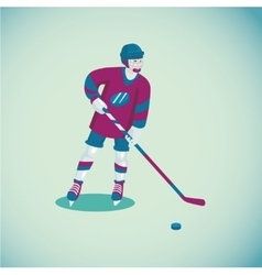 Hockey player Isolated cartoon character Flat vector image vector image