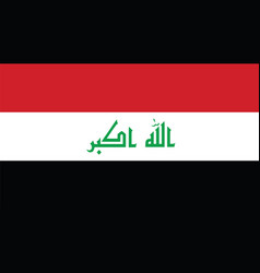 Iraq flag for independence day and infographic vector