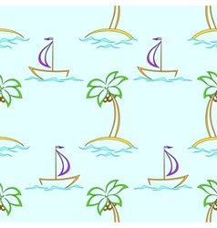 islands and ships vector image vector image