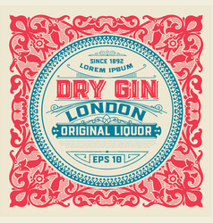Liquor label for packing vector