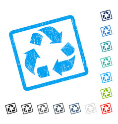 Recycle icon rubber watermark vector