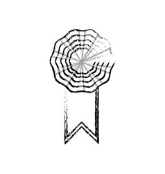 rosette ribbon decoration celebration image vector image vector image