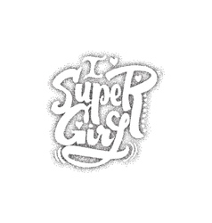 Super girl Pointillism - Calligraphic patch vector image vector image