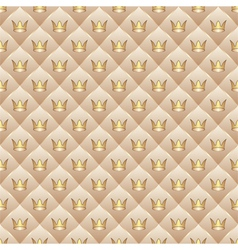 background with crowns vector image