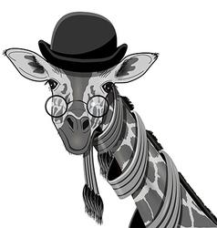 Giraffe in Bowler Hat vector image