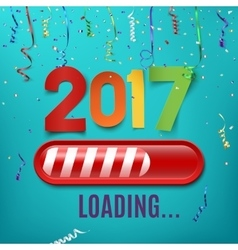 New year 2017 loading bar on celebrating vector