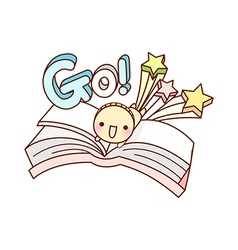 A book is opend vector image