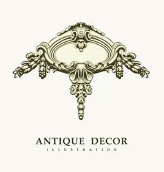 Classical antique decor vector
