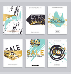 Sale website banners web template collection can vector