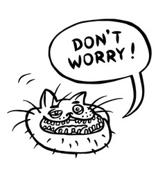 dont worry cartoon cat head vector image