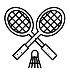 Cartoon image of badminton icon sport symbol vector
