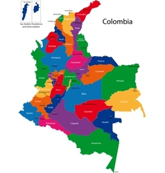 Colombia map vector